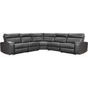 Signature Design by Ashley Samperstone 5 pc. Sectional with 3 Reclining Seats