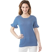 Michael Kors Stripe Cotton Slub Tee