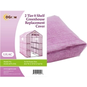 Ogrow 2 Tier 8 Shelf Greenhouse PE Replacement Cover Lilac