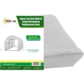 Ogrow Two Door Walk In Tunnel Greenhouse Replacement Cover