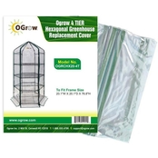 4 TIER HEXAGONAL Greenhouse Replacement Cover - Lilac