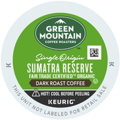 Keurig Green Mountain Coffee, Sumatran Reserve 72 ct.