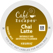 Keurig Cafe Escapes Chai Latte Tea 64 ct.