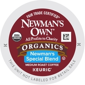 Keurig Newman's Own Organics, Special Blend Coffee 72 ct.