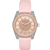 Michael Kors Women's Croco Silicone and Glitz Channing Watch MK6703