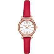 Michael Kors Women's Leather Strap Petite Sofie Watch