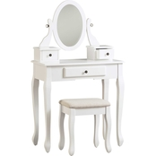 Signature Design by Ashley Kaslyn Vanity, Mirror and Stool Set