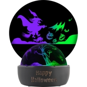 Gemmy Halloween Shadow Light Color Changing Halloween Scene Display