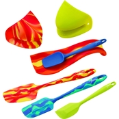 Fiesta by Cambridge Silversmiths 7 pc. Silicone Utensil Set with Caddy