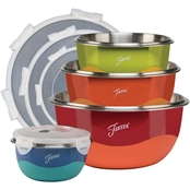 Fiesta Microwave Safe 8 pc. Mixing Bowl Set