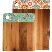 Fiesta Acacia Wood Patterned Cutting Board 2 pc. Set