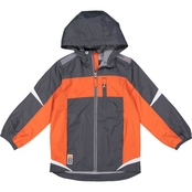 GREY JACKET W ORANGE STRIPE