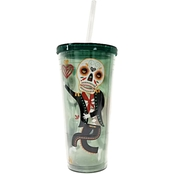 Gibson Home Day of the Dead Double Wall Tumbler 24 oz.
