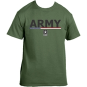 Life Signs Army with American Flag and Logo Tee