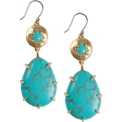 Lucky Brand Faux Turquoise Drop Earrings