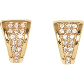 Vince Camuto Pave Crystal Huggie Earrings
