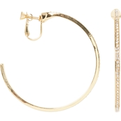 Vince Camuto Pave Crystal Clip Hoop Earrings