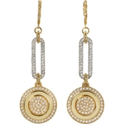 Vince Camuto Pave Crystal Linear Link Earring