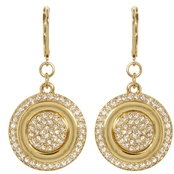 Vince Camuto Goldtone Pave Crystal Disc Earring