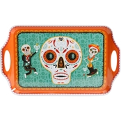 Gibson Home Day of the Dead 19 in. Melamine Serving Tray