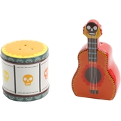 Gibson Home Day of the Dead Guitar and Drum Salt and Pepper Shakers Set