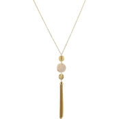 Carol Dauplaise Goldtone Triple Drop Tassel Necklace