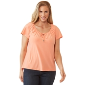 Passports Flutter Sleeve Top