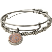 ALEX AND ANI Cosmic Balance Wood Charm Set of 2 Bangles