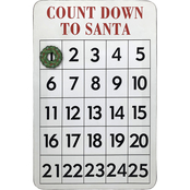 Simply Perfect Santa Countdown Metal Board