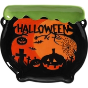 Gibson Home Halloween 9 in. Snack Plate