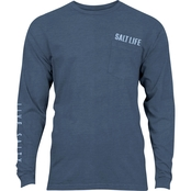Salt Life Open Seas Sunburnt Long Sleeve Pocket Tee