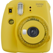 INSTAX MINI 9 YELLOW W/ CLEAR ACCENTS