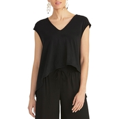 Rachel Roy Cropped V Neck Knit Top