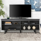 Walker Edison 58 in. Mid Century Modern Wood TV Stand