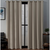 Exclusive Home Sateen WovenBlackout Grommet Top Panel Pair 52x84 in.