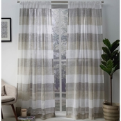 Exclusive Home Bern Stripe Pocket Window Curtain Panels 50 x 84 in. 2 pk.