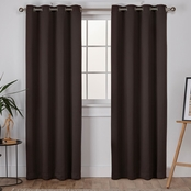 Exclusive Home Sateen Woven Blackout Grommet Top Panel Pair, 52 in. x 96 in.