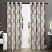 Exclusive Home Akola Medallion Grommet Top Window Curtain Panels 54 x 96 in. 2 pk.
