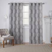 Exclusive Home 54 x 96 in. Akola Medallion Grommet Top Curtain Panel 2 pk.