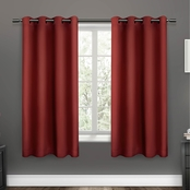 Exclusive Home Sateen Woven Blackout Grommet Top Window Panel 52 x 63 in. 2 pk.