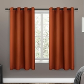 Exclusive Home 52 x 63 in. Sateen Woven Blackout Grommet Top Curtain Panel 2 pk.