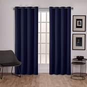 Exclusive Home Sateen Woven Blackout Grommet Top Window Panels 52 x 108 in. 2 pk.