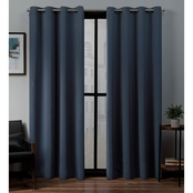 Exclusive Home 52 x 108 in. Sateen Woven Blackout Grommet Top Curtain Panel 2 pk.
