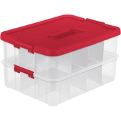 Sterilite Stack & Carry 2 Layer Ornament Box