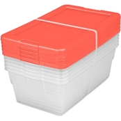 Sterilite Set of (5) 6 Quart Storage Boxes