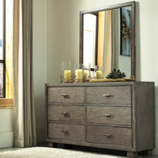 Signature Design by Ashley Arnett 6 Drawer Dresser and Mirror Set