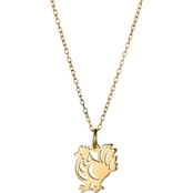 18K Yellow Gold Over Silver Chinese Zodiac Rooster Pendant 16 in.
