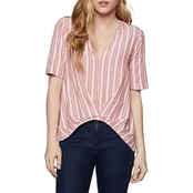 BCBGeneration Pleated Front Top