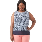 Michael Kors Plus Size Ikat Cut Out Top