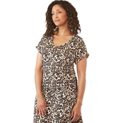 Passports Jaguar Print V Neck Dress